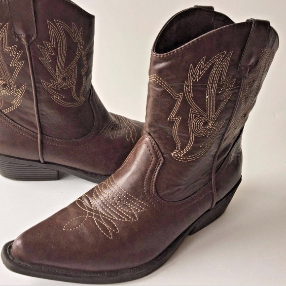 162ef2c3824 SO 9.5M Western Mid Calf Boots Solyla Brown Boot
